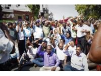 பழங்குடியின மக்கள் மற்றும் விவசாய தொழிலாளர் சங்கத்தினர் ஆர்ப்பாட்டம்